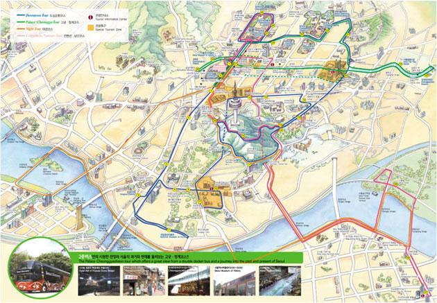 韩国南山首尔塔景区地图