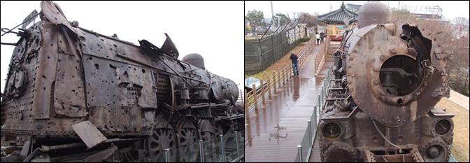 生锈的蒸汽火车头